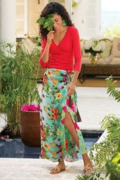 Tropical Sarong Skirt from Soft Surroundings I have this outfit and love it. It is really a beautiful skirt.