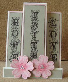 Kathie's Cards: Wedding: Faith Hope Love Center Step Card