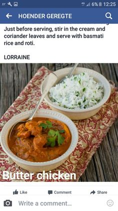 Coriander Leaves, Butter Chicken, Curry, Ethnic Recipes, Food, Curries, Essen, Meals, Yemek