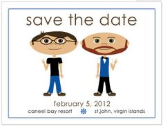 same sex wedding -save the date