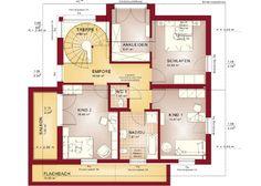 Concept-M 159 - Bien Zenker Studio Apartment Floor Plans, House Floor Plans, Home Building Design, Building A House, Villa Design, House Design, Prefabricated Houses, Inside Home, Types Of Houses