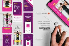 Podcast Instagram Stories & Post by rivatxfz Instagram Design, Instagram Story, Power Point Template, Company Presentation, Story Titles, Social Media Template, Editing Pictures, Ig Story, Keynote Template