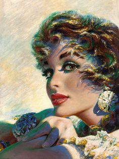 Pin-Up and glamour art, edwin georgi (american, Rolf Armstrong, Girl Artist, Arte Pop, Pulp Art, Vintage Artwork, Retro Art, Figurative Art, Pin Up Girls, Female Art