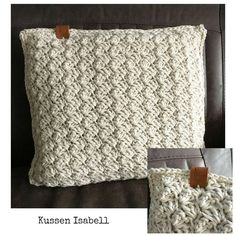 Kussen Isabell Crochet Chart, Love Crochet, Knit Crochet, Crochet Ideas, Crochet Cushions, Crochet Pillow, Knitting Stitches, Diy And Crafts, Trapillo