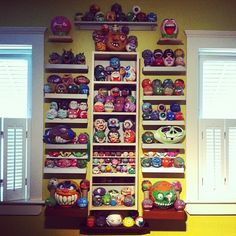 I have cool friends. Mike's madball collection. by walltowallcreeps, via Flickr