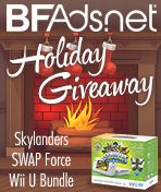 BFAds is giving away a Skylanders SWAP Force Nintendo Wii U Bundle to one lucky follower of BFAds!