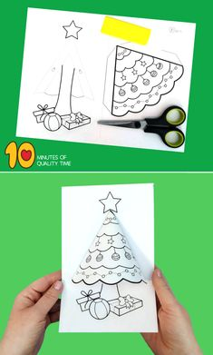 Christmas tree activity for kids - # christmas tree activity - Bastelideen Kinder - Preschool Christmas, Christmas Crafts For Kids, Christmas Printables, Christmas Projects, Winter Christmas, Kids Christmas, Holiday Crafts, Christmas Bells, Simple Christmas