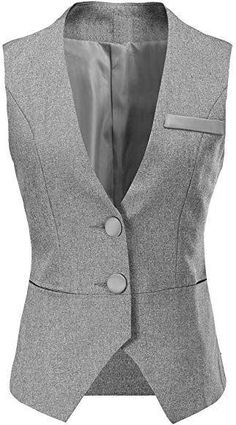 Vocni Women V-Neck Business Slim Fit Skinny Button Down Suit Dressy Vests Waistcoat Prom Suit And Dress, Dress Suits, Corporate Wear, Dress Shirts For Women, Clothes For Women, Best Leather Jackets, Down Suit, Classy Work Outfits, Looks Chic