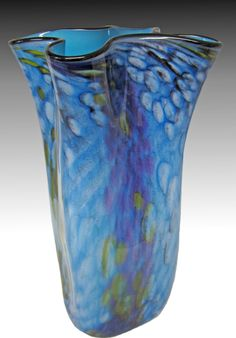 Riverbed Bag Vase in Water by Thomas Philabaum (Art Glass Vase) | Artful Home