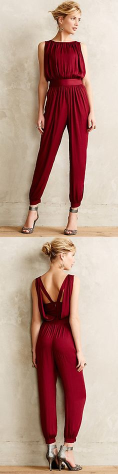 Why not a jumper for your holiday party? Adore the back of this! Draped Garnet Jumper | Anthropologie