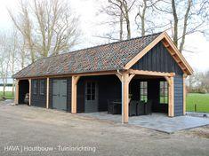 Garage Guest House, Garage Shop, Morton Building, Carport Garage, Car Barn, Black Barn, House Extensions, Garage Workshop, Pergola Patio