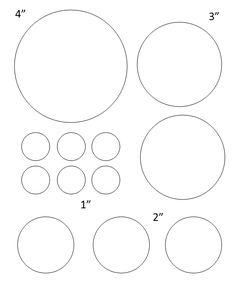 Circles of Different Sizes - large and small - 4, 3, 2, 1 inch...lots of other circle templates for labels and such, too!