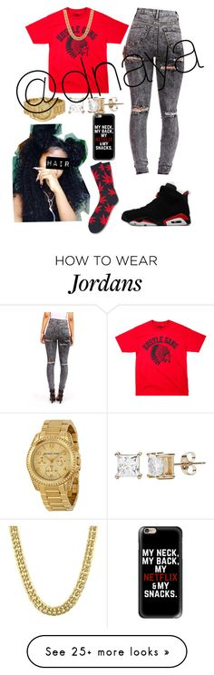 """""""Hustle Gang"""" by dnaya on Polyvore featuring 1928, Michael Kors, HUF and Casetify"""