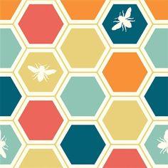 Organic Cotton Fabric Birch  Honeycomb multi | Clothes