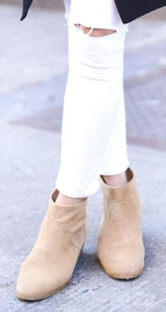 Suede western-inspired ankle bootie