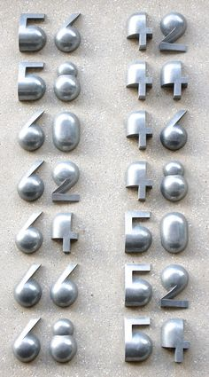"Patrick Myles on Twitter: ""House numbers designed by Reinoud Oudshoon for a new residential neighbourhood with 900 homes, Amsterdam #metallic #FontSunday @DesignMuseum https://t.co/IWKS9ScaMf"""