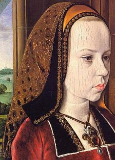 French Hood Images: Portrait of Margaret of Austria - Tudor Research - www.kimiko1.com