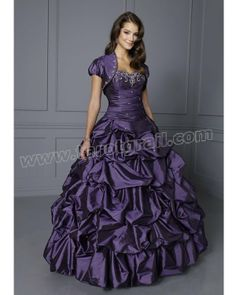 Grape Ball Gown Sweetheart and Strapless Floor Length Ruffled Quinceanera Dress