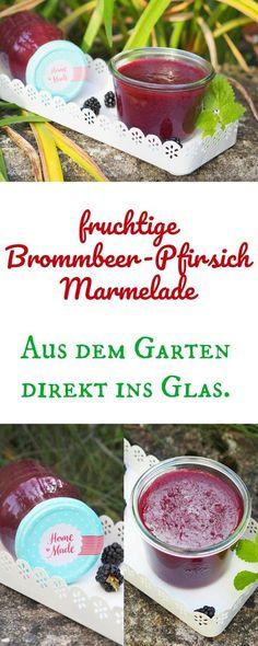 Habt Ihr dieses Jahr auch soooo viele Brombeeren im Garten? Dann verarbeitet diese doch zu leckerer Brombeer - Pfirsich Marmelade. Sehr lecker...im Thermomix ein Kinderspiel. #marmelade #brombeeren #thermomix
