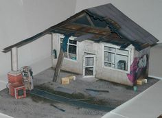 PAPERMAU: Derelict Gas Station Paper Model In 1/50 Scale - by World Of Tanks