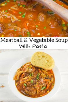 Meatball And Vegetable Soup With Pasta Recipe - This hearty meatball soup is the perfect meal for both lunch and dinner.