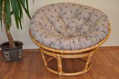 Ratanový papasan 110 cm medový polstr levandule