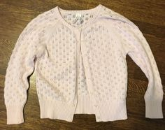 Old Navy Baby Pink Button Up Cardigan Sweater Size 4T | eBay