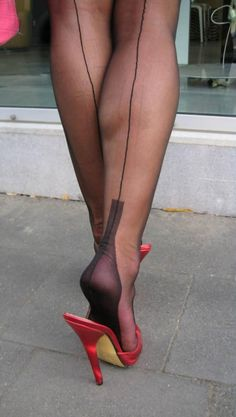 Sexy Feet and Heels. Stockings Heels, Nylons Heels, Stockings And Suspenders, Pantyhose Legs, Black Stockings, Stiletto Heels, Hot Heels, Sexy Heels, Pin Up