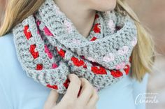 Adorable Puppy Love Infinity Scarf crochet pattern! There's nothing like a handmade infinity scarf crafted with love and style in mind.
