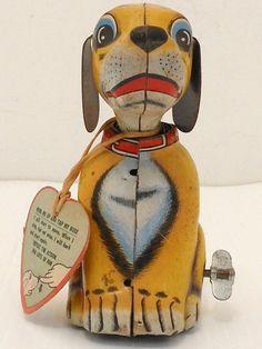 Wind Up Tin Litho Dog