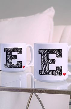 The morning cup of coffee tastes just a little better when enjoyed from a cute, personalized mug.