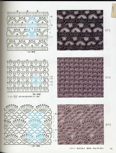 ISSUU - Crochet technique and pattern NV 70142 2012 por Crowe Berry Crochet Shawl Diagram, Crochet Stitches Chart, Stitch Crochet, Crochet Motifs, Knitting Stitches, Knitting Patterns, Knit Crochet, Crochet Patterns, Irish Crochet