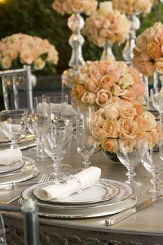 fancy table setting with the glasses plates and silverware. & pomegranate table setting | CHECK OUT MORE IDEAS AT WEDDINGPINS.NET ...