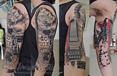 tatuaż, trash polka