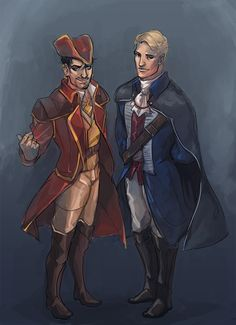 Ironfries: its CAPTAIN STARK and COMMODORE ROGERS and this is when they finally get over themselves and bang and decide to get a portrait together i guess