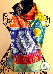 Tutorial: Sprout's Patchwork Scarf and Scarflette · Sewing | CraftGossip.com