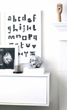 Via A Merry Mishap | Snug Studio Alphabet | HAY Hand | White Snug Studio, Nordic Interior Design, Wooden Hand, Scandinavian Home, Home Living Room, I Shop, Sweet Home, Typography, Skull