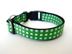 Collar Gingham Check Green by usagiteam on Etsy, $34.00