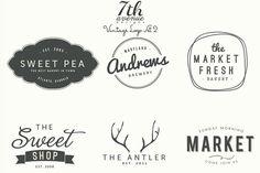 Logo Set 2 by 7th Avenue Designs on Creative Market