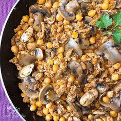 Soja texturizada con garbanzos Paella, Healthy, Ethnic Recipes, Food, Legumes, Dishes, Deserts, Healthy Food, Ethnic Food