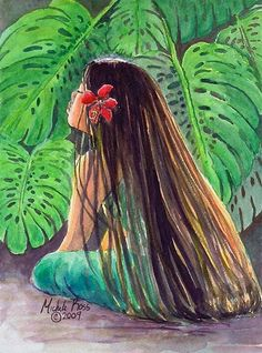 Choose your favorite hawaii paintings from millions of available designs. All hawaii paintings ship within 48 hours and include a money-back guarantee. Hawaiian Girls, Hawaiian Art, Hawaiian Tattoo, Hawaiian Flowers, Hawaiian Woman, Hawaiian Quilts, Polynesian Art, Polynesian Culture, Polynesian Designs