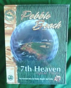 Pebble Beach 7th Heaven Jigsaw Puzzle New NIB Sealed 7th Hole Golf Course 1997 #JKGames www.hamptoncollect.com