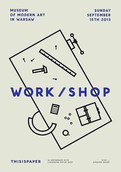 Workshop Poster #minimal Designspiration
