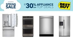 Get Up to 30% Off Home Appliance Top Deals at #BestBuy  #Electronics #Accessories #Machines #Fridge