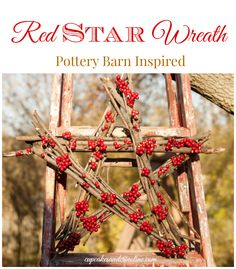 Red Star Wreath Inspired by $199 Pottery Barn
