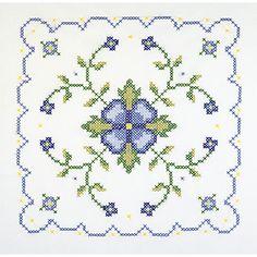 Janlynn Blue & Yellow Floral Quilt Stamped Cross Stitch Blocks | Wayfair