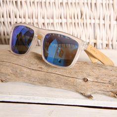 Wayfarer Style PC Frame and Blue Lens Wood Sunglasses South Africa, Wayfarer, Sunglasses Case, Bamboo, Lens, Wood, Frame, Blue, Style