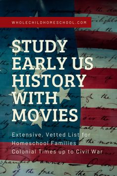 An extensive, vetted list of Early American History movies for your middle & high school homeschoolers, organized by time period. High School American History, Teaching American History, American History Lessons, Teaching History, Middle School Us History, High School Literature, Native American History, American Indians, History Lessons For Kids