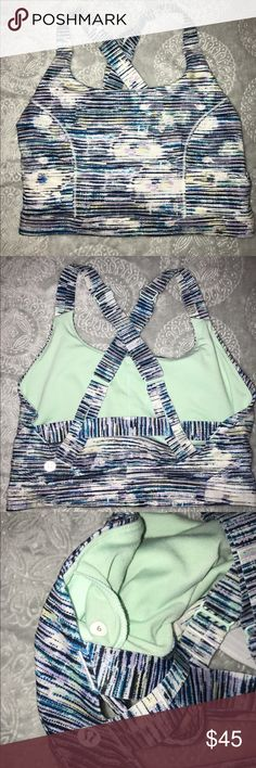 Lululemon athletica top 6 Like new only worn once. Too small for me. Lululemon size 6 yoga crop top. lululemon athletica Tops Crop Tops