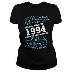 Made in March 1994 Aged To Perfection #1994 #tshirts #birthday #gift #ideas #Popular #Everything #Videos #Shop #Animals #pets #Architecture #Art #Cars #motorcycles #Celebrities #DIY #crafts #Design #Education #Entertainment #Food #drink #Gardening #Geek #Hair #beauty #Health #fitness #History #Holidays #events #Home decor #Humor #Illustrations #posters #Kids #parenting #Men #Outdoors #Photography #Products #Quotes #Science #nature #Sports #Tattoos #Technology #Travel #Weddings #Women